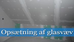 opsætning af glasvæv