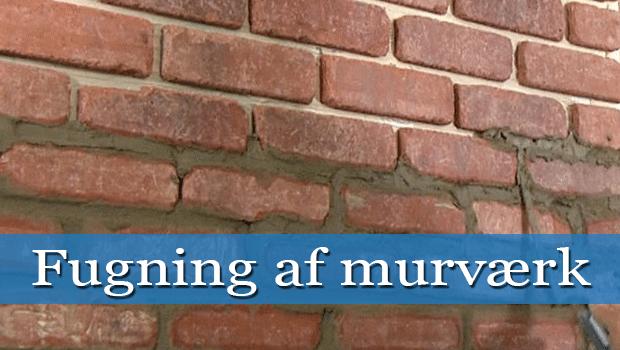Udestående Fugning af murværk - Gør det selv eller modtag 3 gratis tilbud GP55