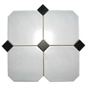 Væg-/gulvflise - Octagon Hvid Mat 20x20 cm