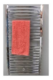 Håndklædetørrer i krom