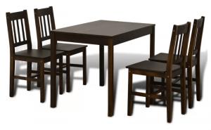 VidaXL spisebordssæt med fire stole