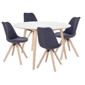 Spisebordssæt - Nora spisebord m. Elva stole
