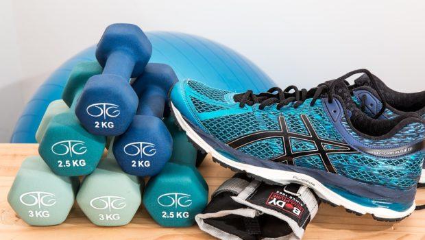 Løbesko og håndvægte