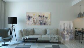 Stue med møbler